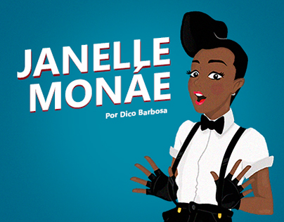"Ilustração ""fã arte"" para Janelle Monáe"