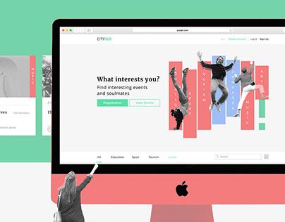 UX/UI Design – CITY!GO (Social Website)