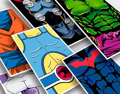 Rashguard de personajes héroes