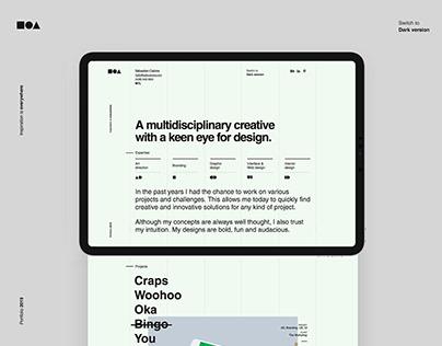 One-Pager portfolio design
