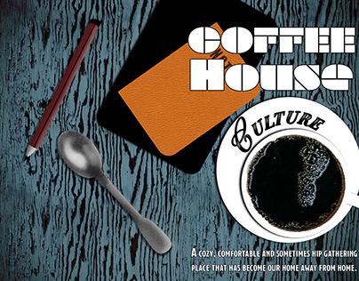 Coffee House Culture Zine Design. PSDCC
