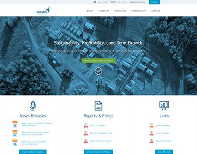 Bellatrix Exploration Website Design