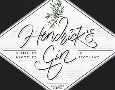 Hendrick's Gin bottle label