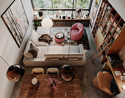 Double height apartment