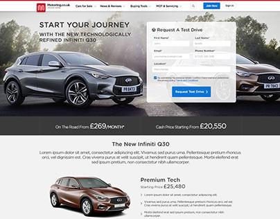 Infiniti Q30 Responsive Landing Page - Motoring.co.uk