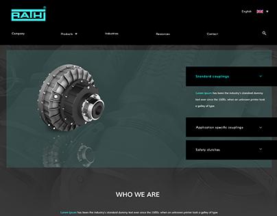 Website UI/UX design for Rathi Europe!