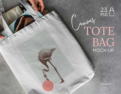 Canvas Tote Bag Mock-Up's