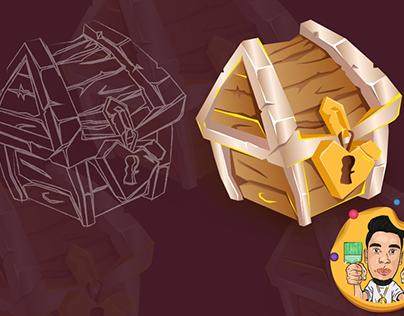 chest game icon design