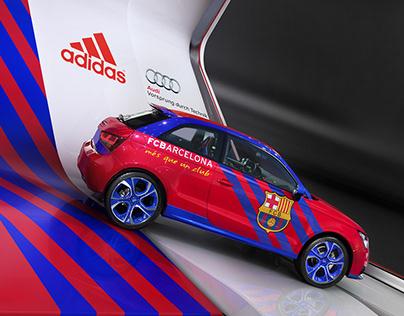 Audi Adidas fair stand