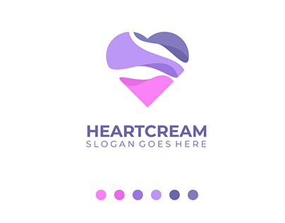 HeartCream Logo Design