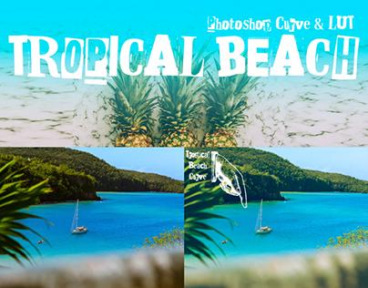 "Free Photoshop Curve & LUT ""Tropical Beach"""