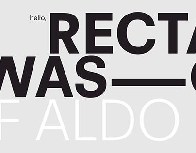 RectaDesigned byAldo Novarese's and byCanada Type