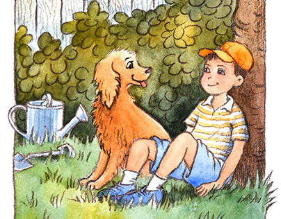 "Illustrations for ""Me, My Dog, & the Homework Mystery"""