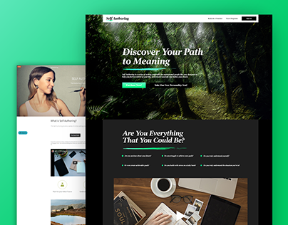 Self Authoring Website Redesign Concept