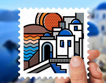 Destination: Greece   Stamp collection