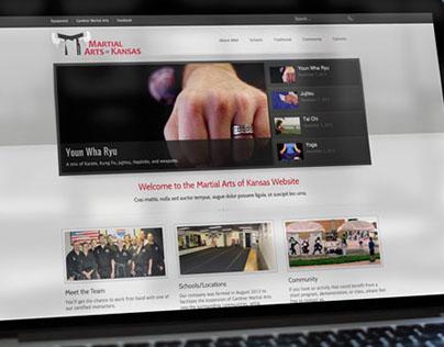 Martial Arts of Kansas Website Design