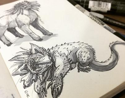Sketchbook - Creaturedesign