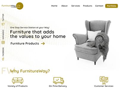 FurnitureWay, Web Design for Furniture Website Concept.