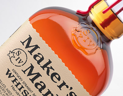 3D Maker's Mark Whisky Bottles - Advertising Imagery