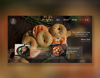 Food website creative design