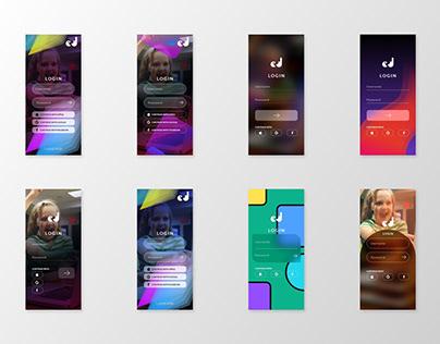 Mobile Login UI Structure 2021