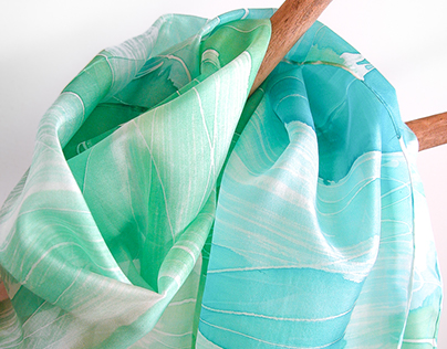 AliceElettrica - hand painted silk scarves