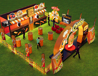 OUTDOOR EVENT SETUP FOR CHEETOS