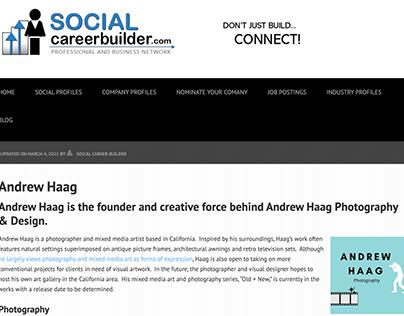 Social Career Builder Professional Profile