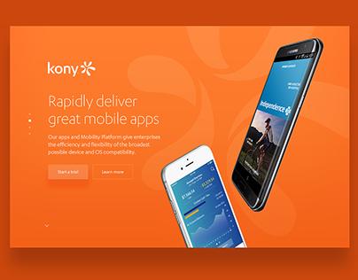 Kony web concept