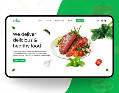 Food landing page | Food web page
