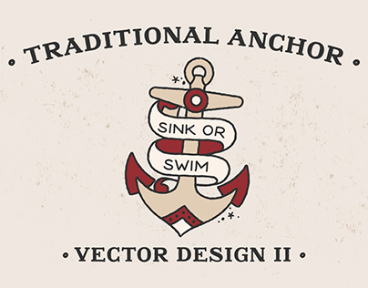 Traditional Anchor II - Vector Design