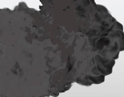 3D smoke simulation