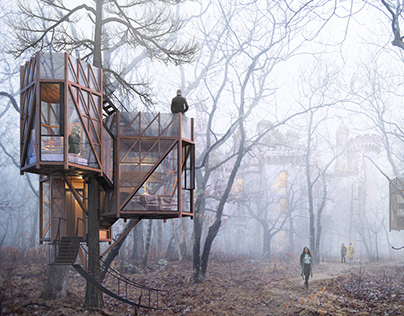 Tree house module: The Enchanting Nest by Studio Shanil