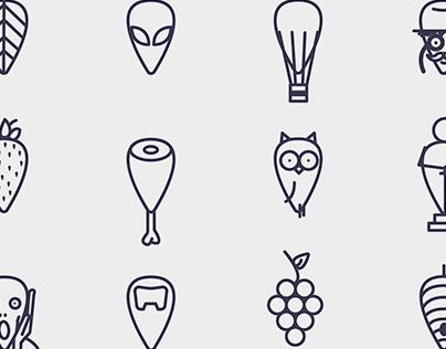 The same shape icons