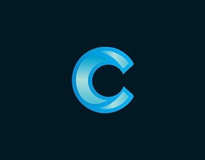 C Branding Identity Logo-Modern C Logo design-App Icon