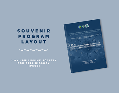 Souvenir Program layout for PSCB
