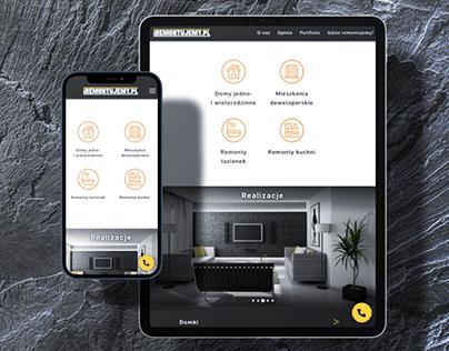 iRemontujemy - website of a renovation company