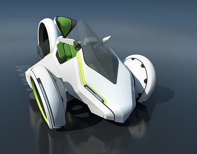 """Scorpio"", electric three wheeled vehicle VIDEO"