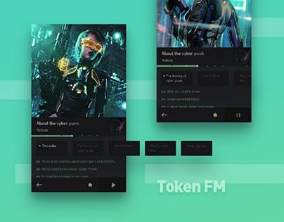 Podcast APP Design Concept - Token FM