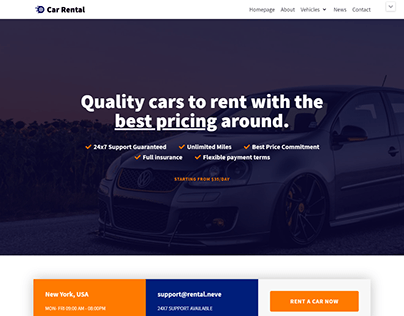 Car Rental Service Website