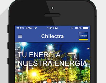 Chilectra - UI/UX propuesta app nativa mobile