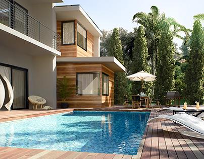 "3D visualization ""Moryakov residence"""