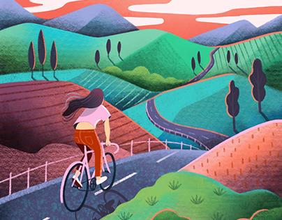 Bike Touring Lady
