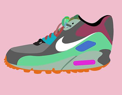 Vectored Sneaker Design