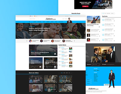 Newspaper Website Design