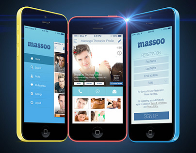 Massoo - Massage Therapist On-Demand iOS MVP App Design