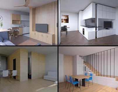 various archviz interior projects