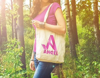 Bag Mock-up with Angel Logo