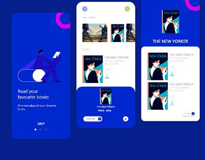 Book app  ui design