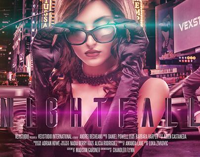 NIGHTFALL Action Movie Poster - Photoshop Manipulation